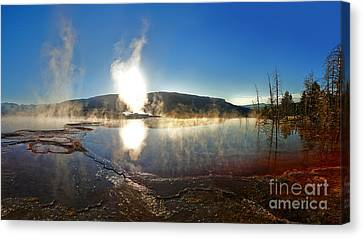 Yellowstone National Park - Minerva Terrace - 06 Canvas Print by Gregory Dyer