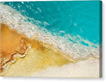 Canvas Print featuring the photograph Yellowstone Thermal Pool 1 by Peg Toliver