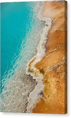 Canvas Print featuring the photograph Yellowstone Thermal Pool 2 by Peg Toliver