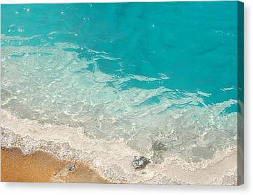 Canvas Print featuring the photograph Yellowstone Thermal Pool 3 by Peg Toliver