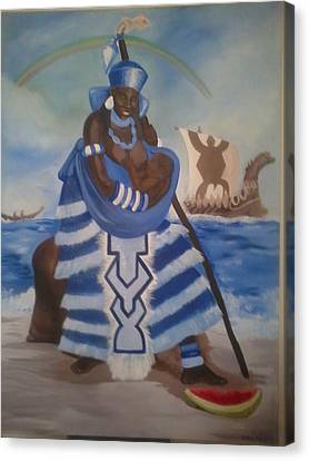 Yemaya - Mother Of The Ocean Canvas Print by Sula janet Evans