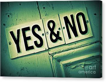 Yes And No 2 Canvas Print by Perry Webster