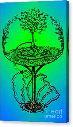 Yggdrasil From Norse Mythology Canvas Print by Photo Researchers