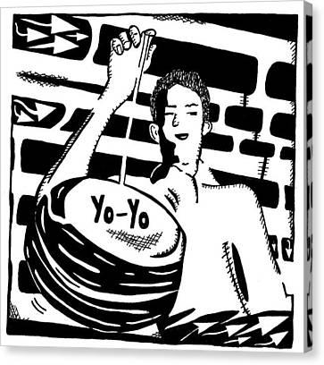 Yo Yo Maze Canvas Print by Yonatan Frimer Maze Artist