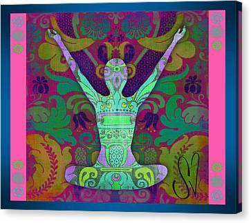Yoga Card Canvas Print by Dana Vogel