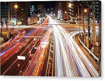 Long Street Canvas Print - Yokohama Stream by Spiraldelight