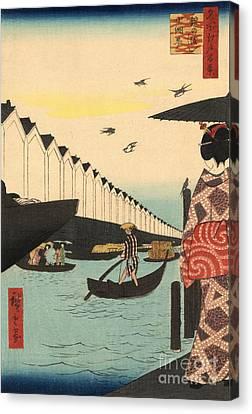 Row Boat Canvas Print - Yoroi Ferry At Koami District by Padre Art