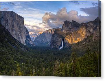 Yosemite Sunset Canvas Print by Jim Neumann
