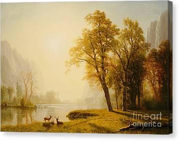 Yosemite Valley Canvas Print by Albert Bierstadt