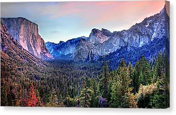 Yosemite Valley From Tunnel Canvas Print