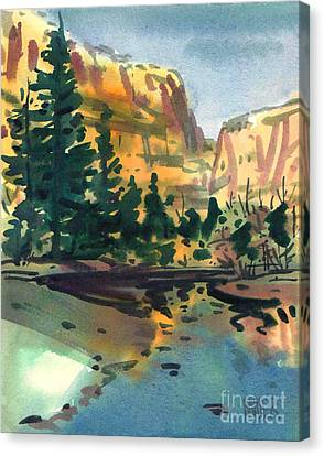 Yosemite Valley In January Canvas Print