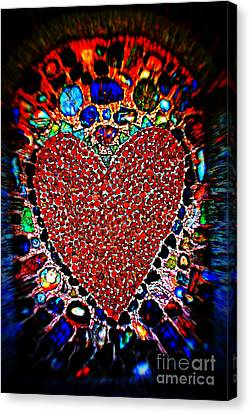 You Are In My Heart My Valentine Canvas Print by Susanne Van Hulst