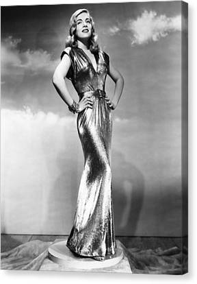 Gold Lame Canvas Print - You Came Along, Lizabeth Scott, 1945 by Everett