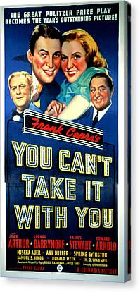 You Cant Take It With You, Lionel Canvas Print by Everett