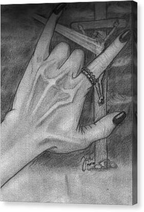 Pencil Canvas Print - You Rock by Cheppy Japz