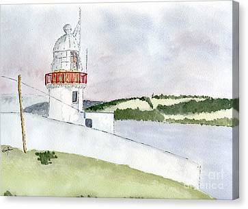 Youghal Lighthouse Canvas Print by Eva Ason