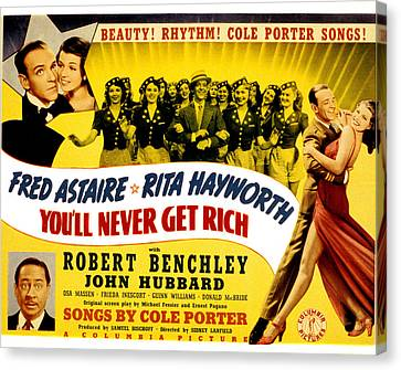 Youll Never Get Rich, Fred Astaire Canvas Print by Everett