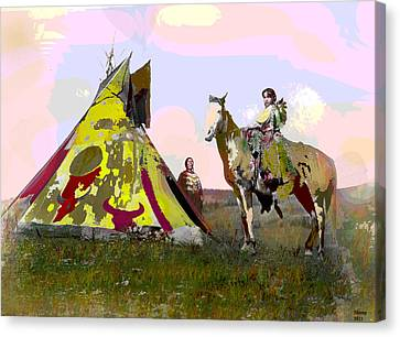 Young Chief Canvas Print by Charles Shoup