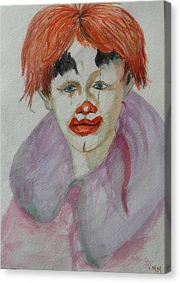 Young Clown Canvas Print