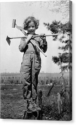 Young Gardener Canvas Print by Henry Guttmann