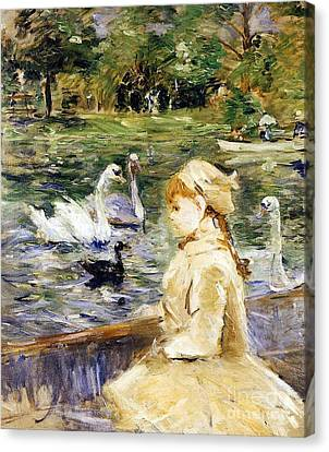 Young Girl Boating Canvas Print by Berthe Morisot