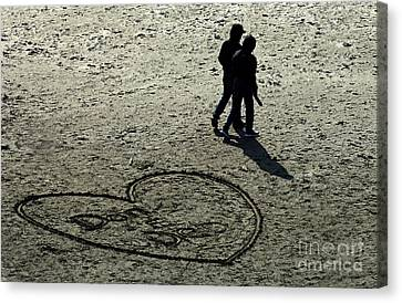 Young Love Canvas Print by Bob Christopher