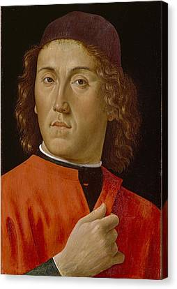 Young Man  Canvas Print by Domenico Ghirlandaio