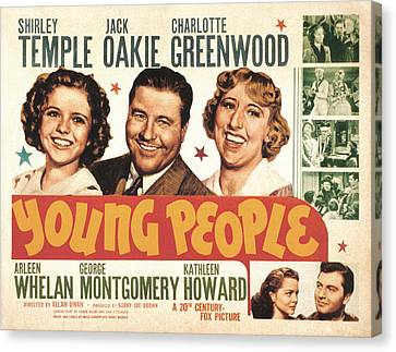 Young People, Shirley Temple, Jack Canvas Print by Everett