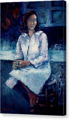 Young Woman Canvas Print by Bettye  Harwell