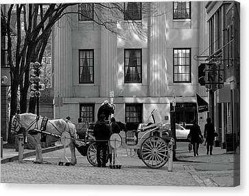 Your Carriage Awaits Canvas Print by Kristine Patti