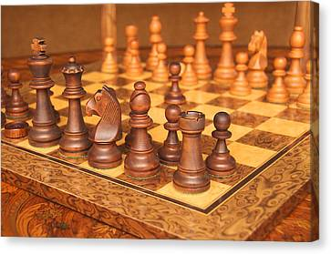 Your Move Canvas Print by Graham Hawcroft pixsellpix