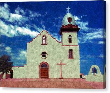Ysleta Mission Texas Canvas Print by Kurt Van Wagner
