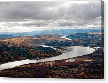 Yukon River Bridge Canvas Print by Gary Rose