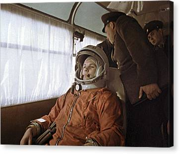 Yuri Gagarin Before Launch, 1961 Canvas Print