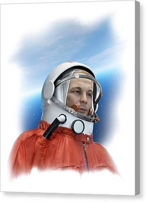 Yuri Gagarin, Soviet Cosmonaut Canvas Print by Detlev Van Ravenswaay