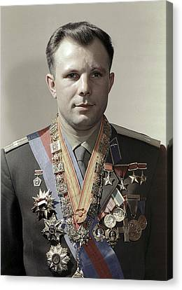 Yuri Gagarin, Soviet Cosmonaut Canvas Print by Ria Novosti