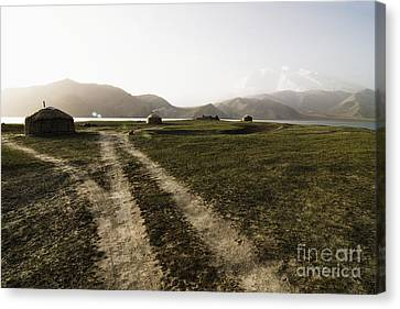 Yurts And A Dirt Road Canvas Print