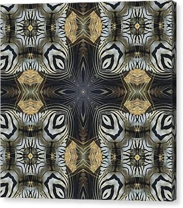 Zebra Cross II Canvas Print by Maria Watt