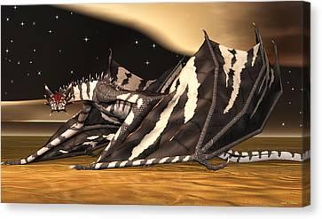 Zebra Dragon Canvas Print by Walter Colvin