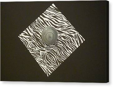 Zebra Square Canvas Print