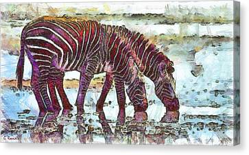 Masai Canvas Print - Zebras by George Rossidis