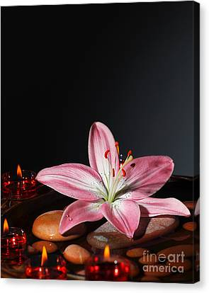 Zen Atmosphere At Spa Salon Canvas Print by Anna Om