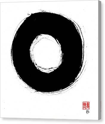 Zen Circle Seven Canvas Print by Peter Cutler