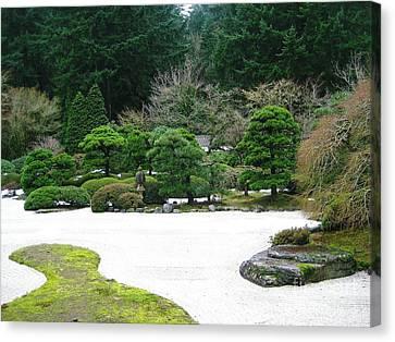 Zen Garden Canvas Print by Melissa Stinson-Borg
