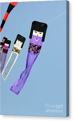Zen Kimono Dolls Canvas Print by David Lade