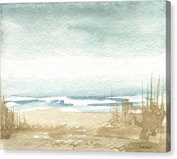 Zen Landscape 1 Canvas Print by Sean Seal