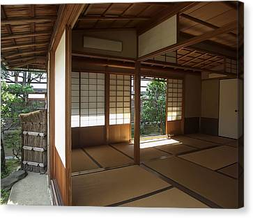 Zen Meditation Room Open To Garden - Kyoto Japan Canvas Print by Daniel Hagerman