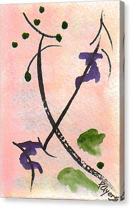 Canvas Print featuring the painting Zen Study 01 by Paula Ayers