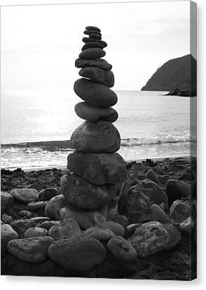 Canvas Print featuring the photograph Zen Tower by Ramona Johnston