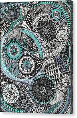 Zentangle Canvas Print by Lynne Howard